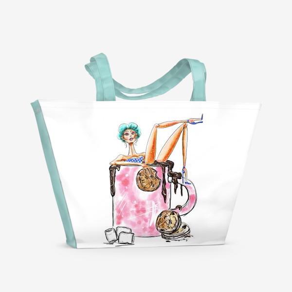 Пляжная сумка «Горячий шоколад»
