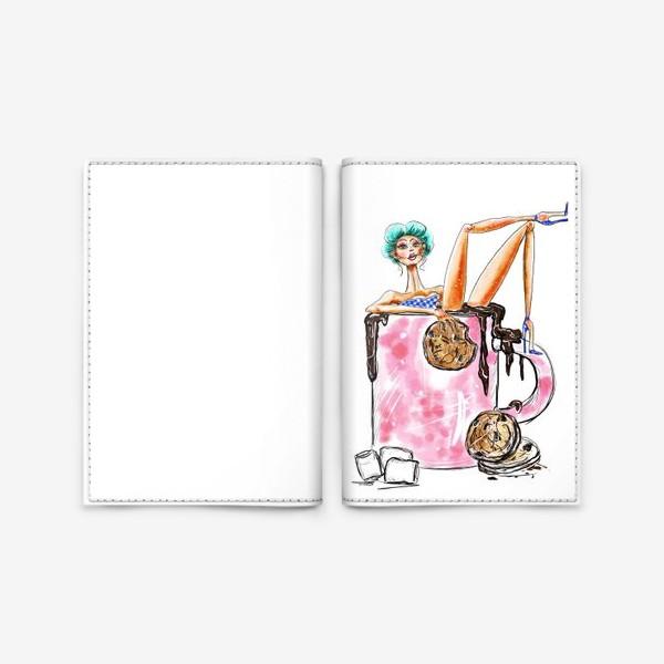 Обложка для паспорта «Горячий шоколад»