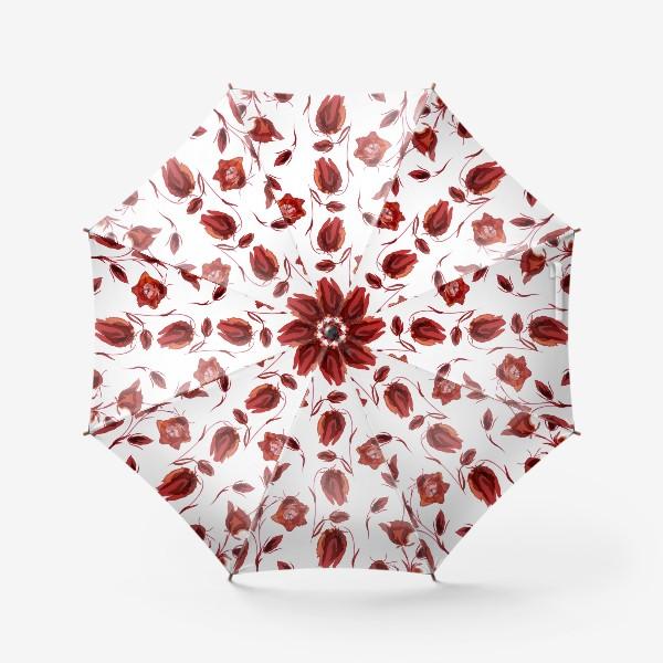 Зонт «акварельные колокольчики»