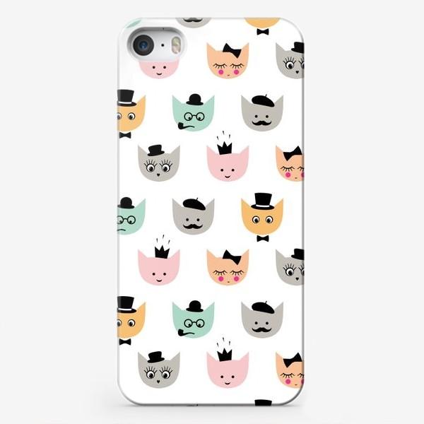 Чехол iPhone «Паттерн Котики»
