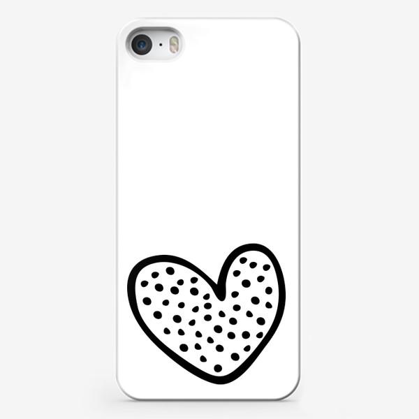 Чехол iPhone «сердце в горошек»