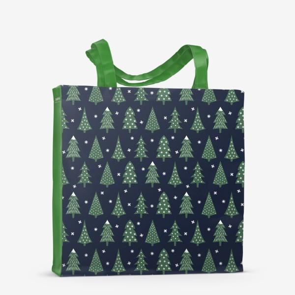 Сумка-шоппер «Паттерн Зимний лес»