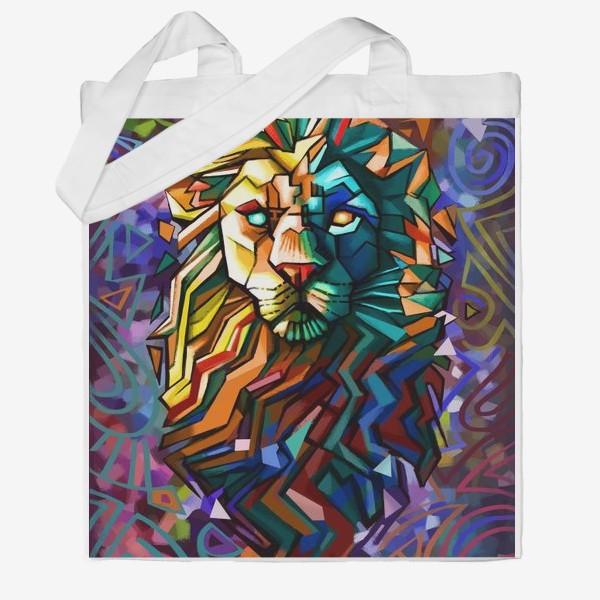 Сумка хб «знак зодиака лев»