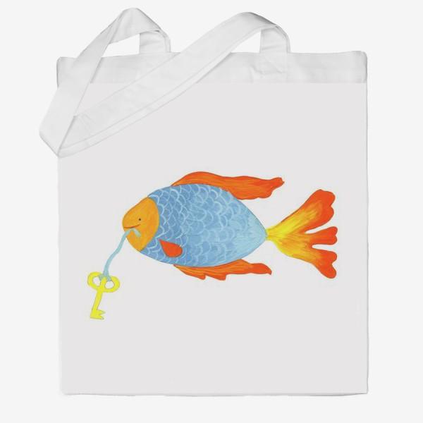 Сумка хб «Рыбка с золотым ключиком»