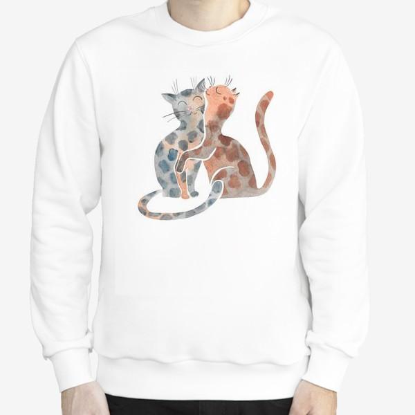 Свитшот «Влюбленные коты»