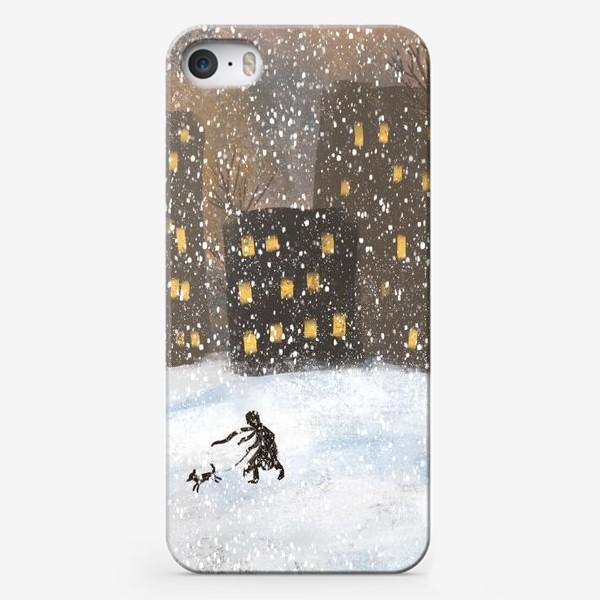 Чехол iPhone «Прогулка в метель»