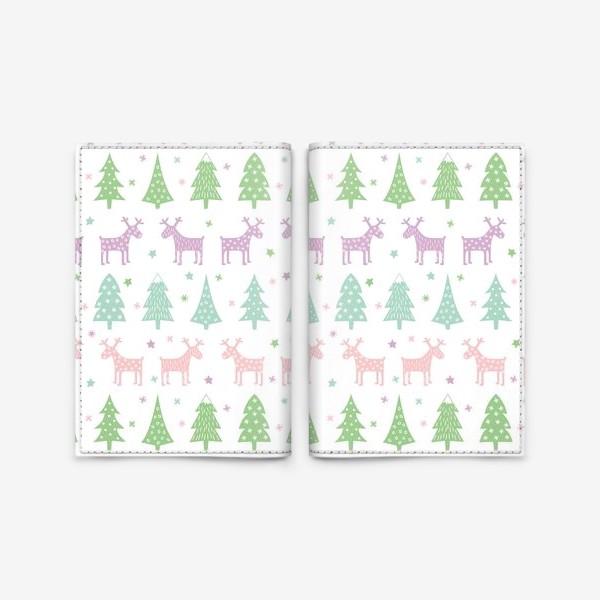 Обложка для паспорта «Паттерн Зимний лес»