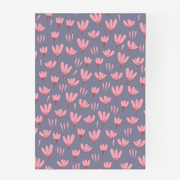 Постер «розовые ромашки»