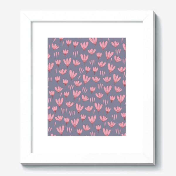 Картина «розовые ромашки»
