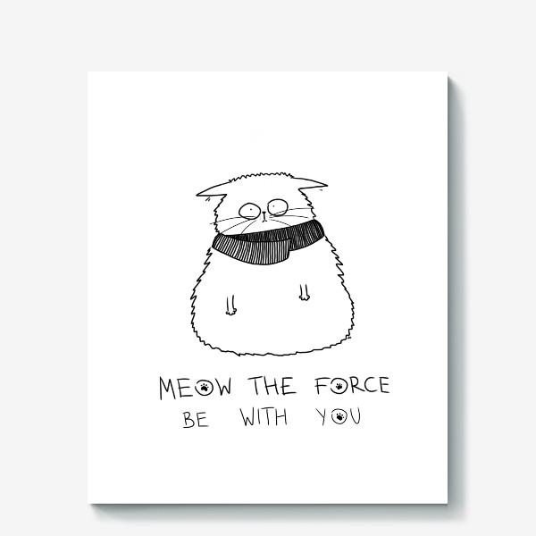 Холст «Star Wars. Да прибудет с тобой сила! Кот Йода »