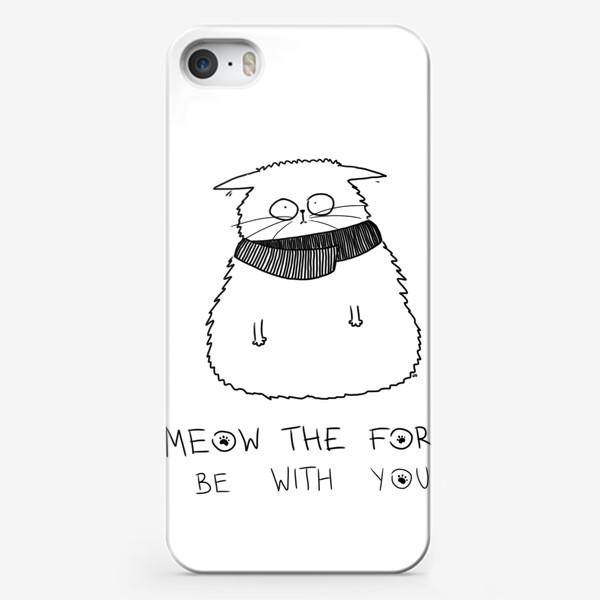 Чехол iPhone «Star Wars. Да прибудет с тобой сила! Кот Йода »