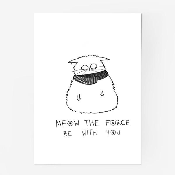 Постер «Star Wars. Да прибудет с тобой сила! Кот Йода »