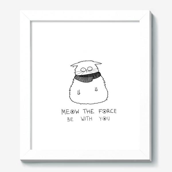 Картина «Star Wars. Да прибудет с тобой сила! Кот Йода »