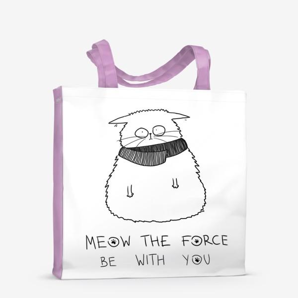 Сумка-шоппер «Star Wars. Да прибудет с тобой сила! Кот Йода »
