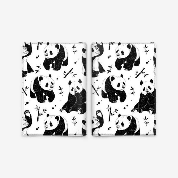 Обложка для паспорта «Панды»