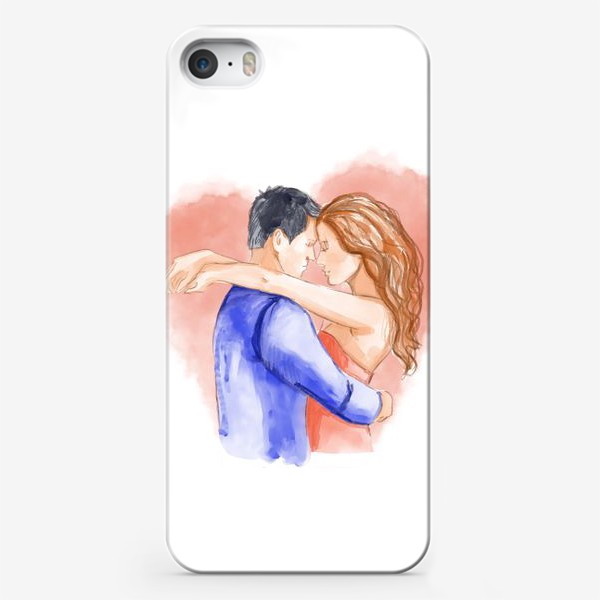 Чехол iPhone «Влюбленная пара. 14 февраля. Любовь»