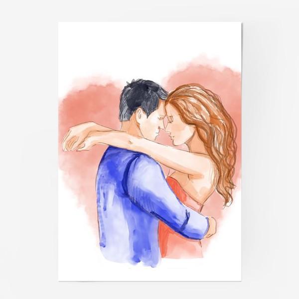 Постер «Влюбленная пара. 14 февраля. Любовь»