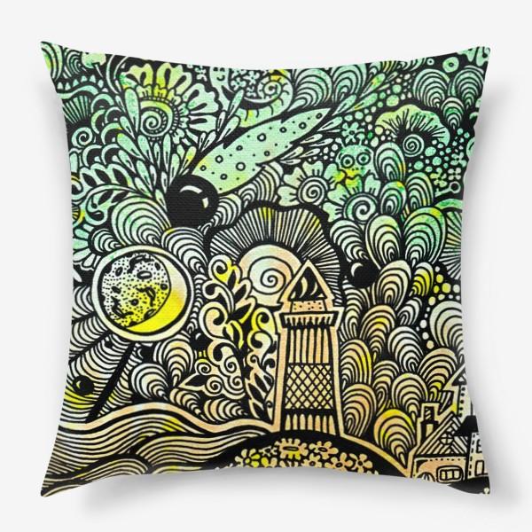 Подушка «Маяк и комета »