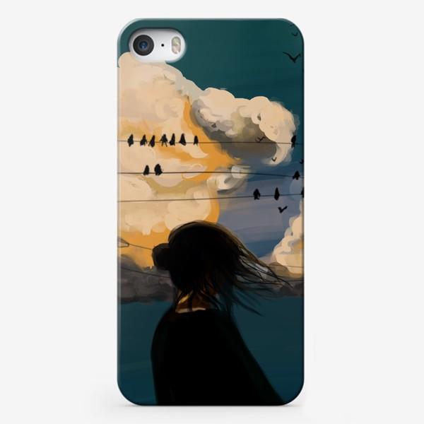 Чехол iPhone «Девушка. Закат.»