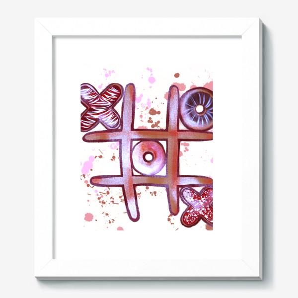 Картина «Крестики - Нолики. Съедобные открытки. 14 февраля. День всех влюблённых.»