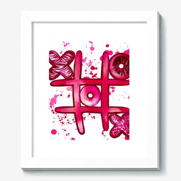 Картина «Крестики - Нолики. Парные футболки. Для нее. 14 февраля. День всех влюблённых.»