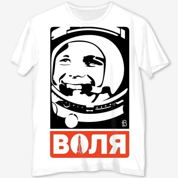 Футболка с полной запечаткой «Воля к победе / Гагарин / супергерои»