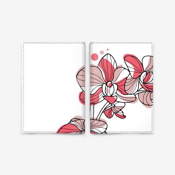 Обложка для паспорта «Орхидея. Букет для любимой.»