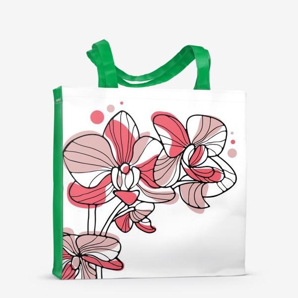 Сумка-шоппер «Орхидея. Букет для любимой.»