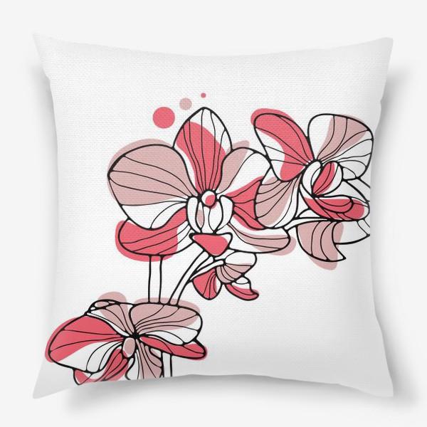 Подушка «Орхидея. Букет для любимой.»