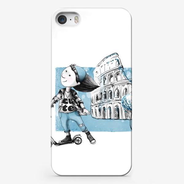 Чехол iPhone «Николь в Риме»