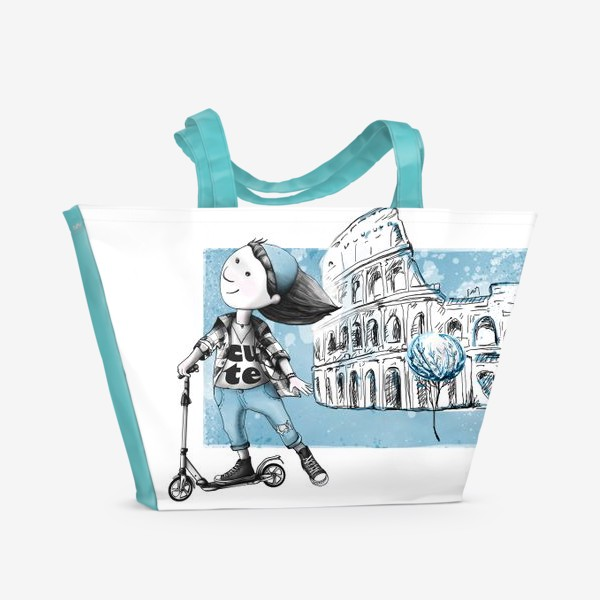 Пляжная сумка «Николь в Риме»