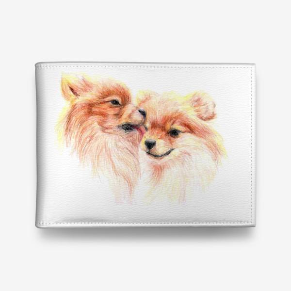 Кошелек «пара собак шпицы 14 февраля любовь»