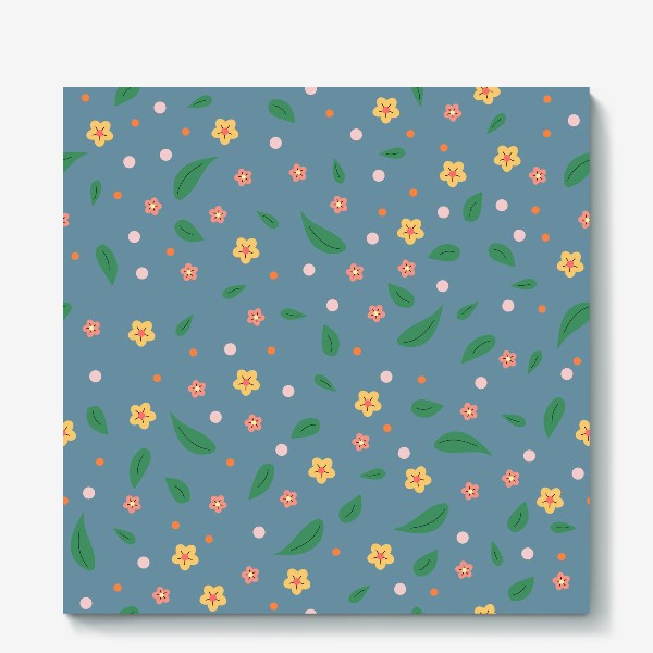 Холст «мелкие цветочки»