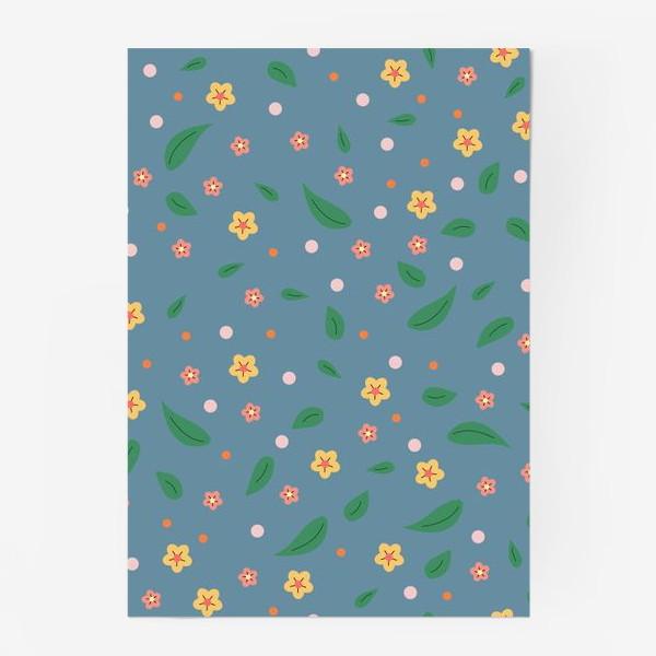 Постер «мелкие цветочки»
