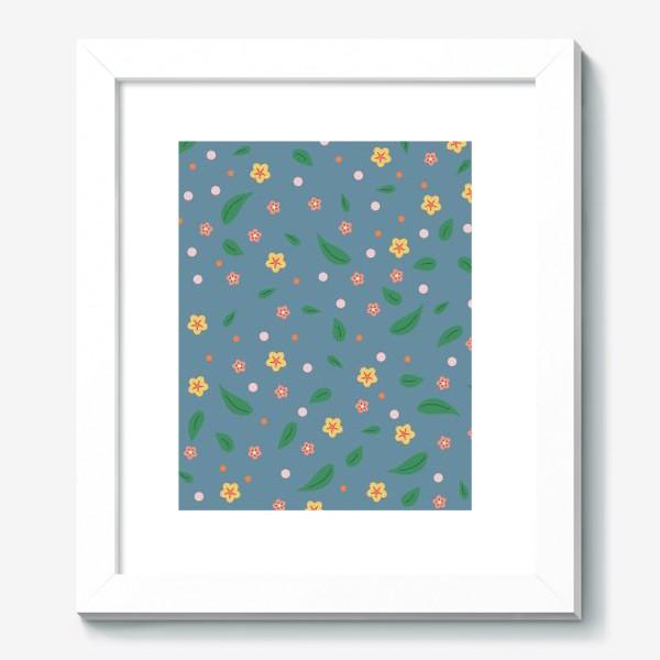 Картина «мелкие цветочки»