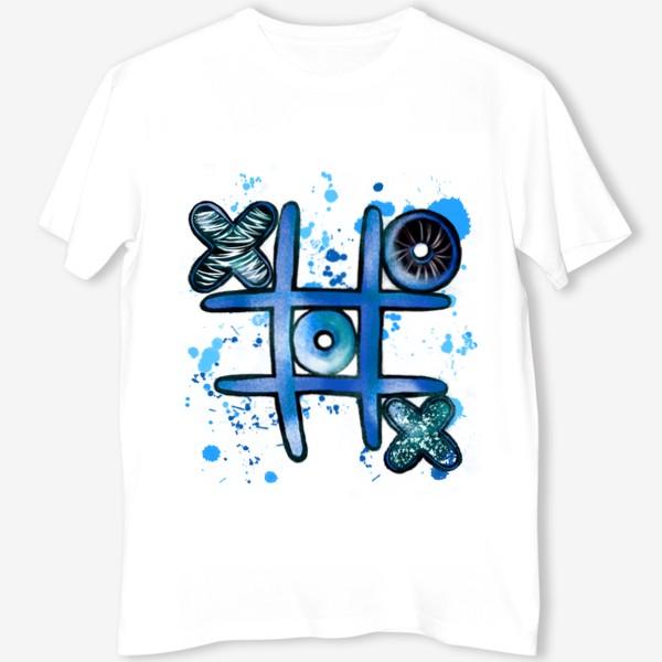 Футболка «Крестики - Нолики. Парные футболки. Для него. 14 февраля. День всех влюблённых.»
