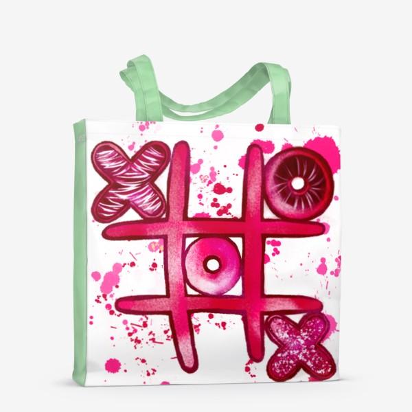 Сумка-шоппер «Крестики - Нолики. Парные футболки. Для нее. 14 февраля. День всех влюблённых.»