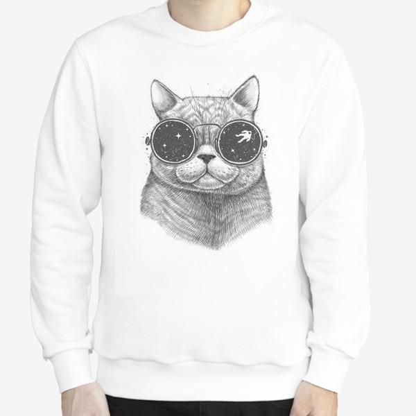 Свитшот «Кот в космических очках»