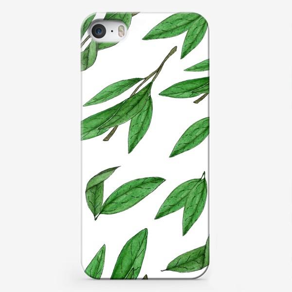 Чехол iPhone «зеленые листья»