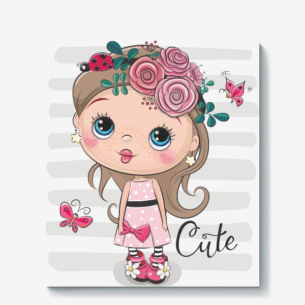 Холст «Маленькая Принцесса Цветок»