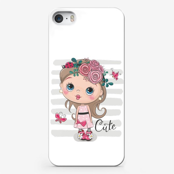 Чехол iPhone «Маленькая Принцесса Цветок»