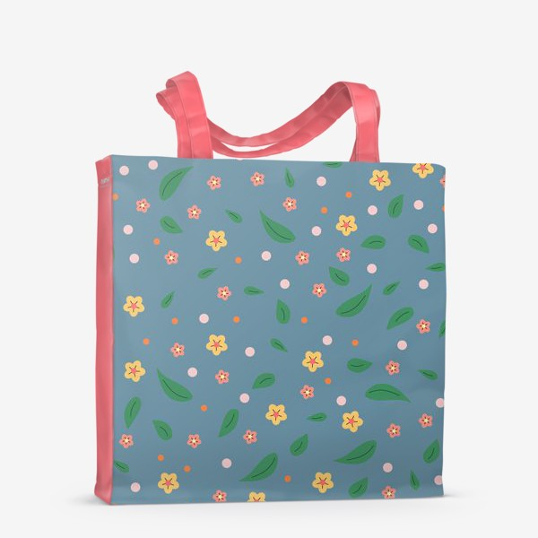 Сумка-шоппер «мелкие цветочки»