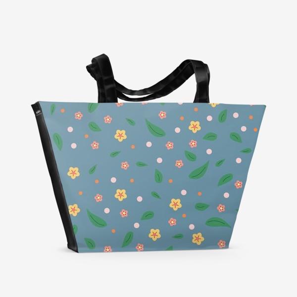 Пляжная сумка «мелкие цветочки»