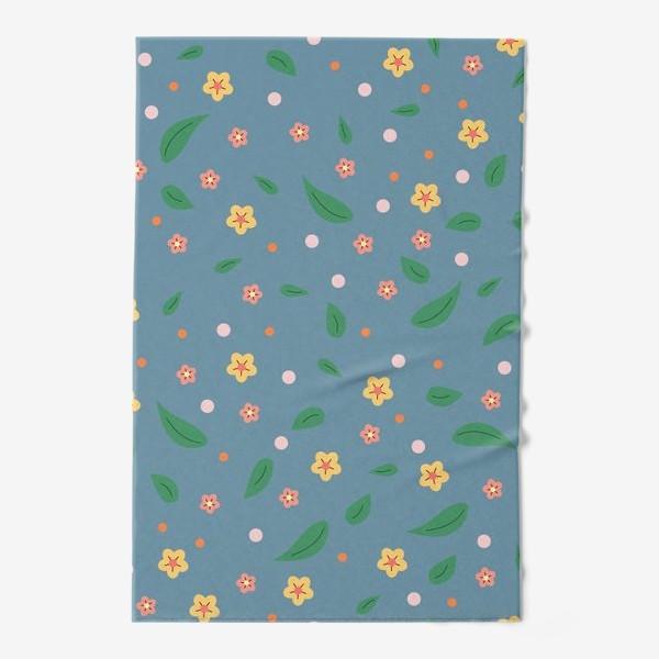 Полотенце «мелкие цветочки»