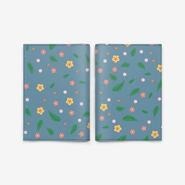 Обложка для паспорта «мелкие цветочки»