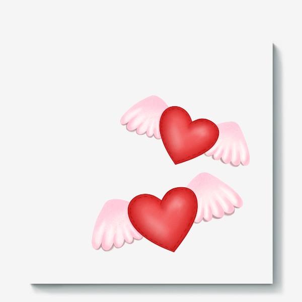 Холст «Два сердца-одна любовь»