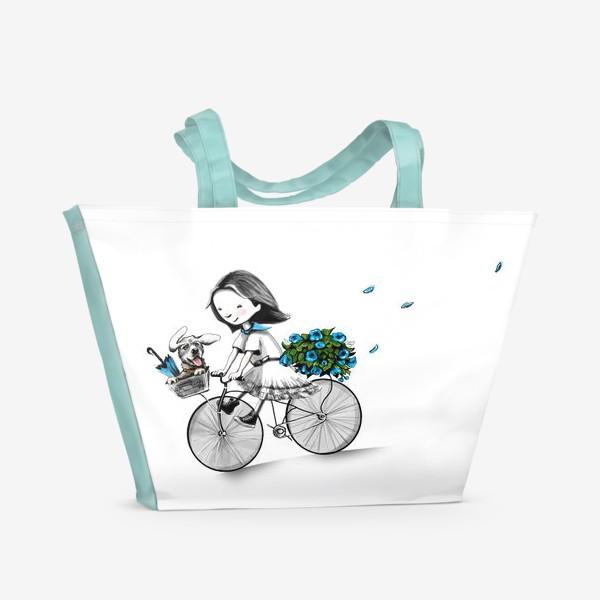 Пляжная сумка «Николь в Париже»