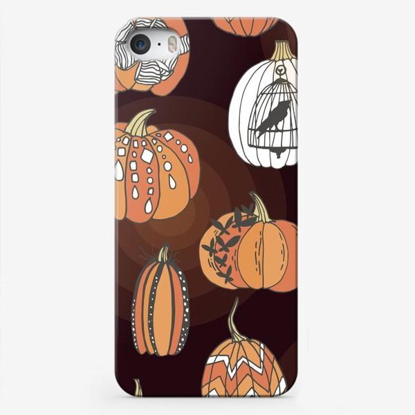 Чехол iPhone «Стильные тыквы»