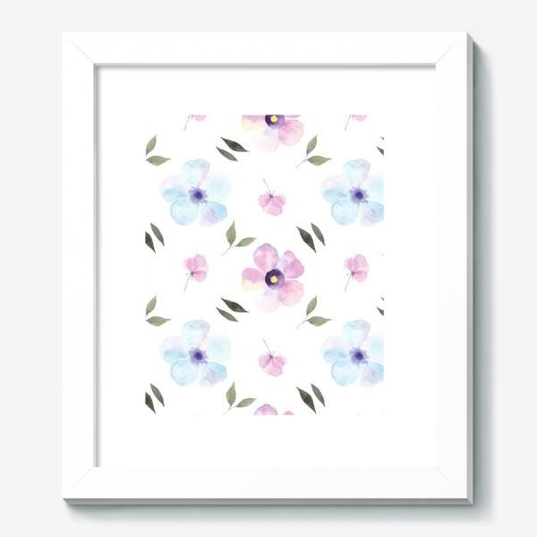 Картина «Орнамент из голубых и фиолетовых цветов»