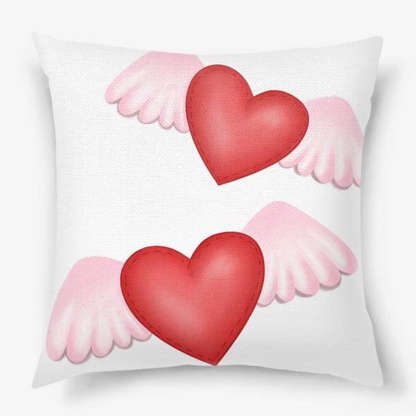 Подушка «Два сердца-одна любовь»
